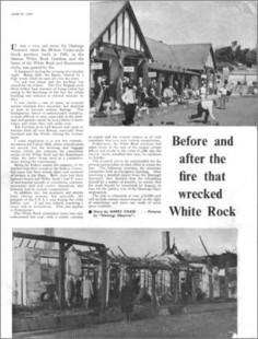The Pavilion destroyed by fire in 1968